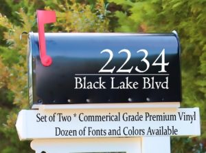 Mail Box Decal Decals 2 Includes Two Mailbox Decals for your home