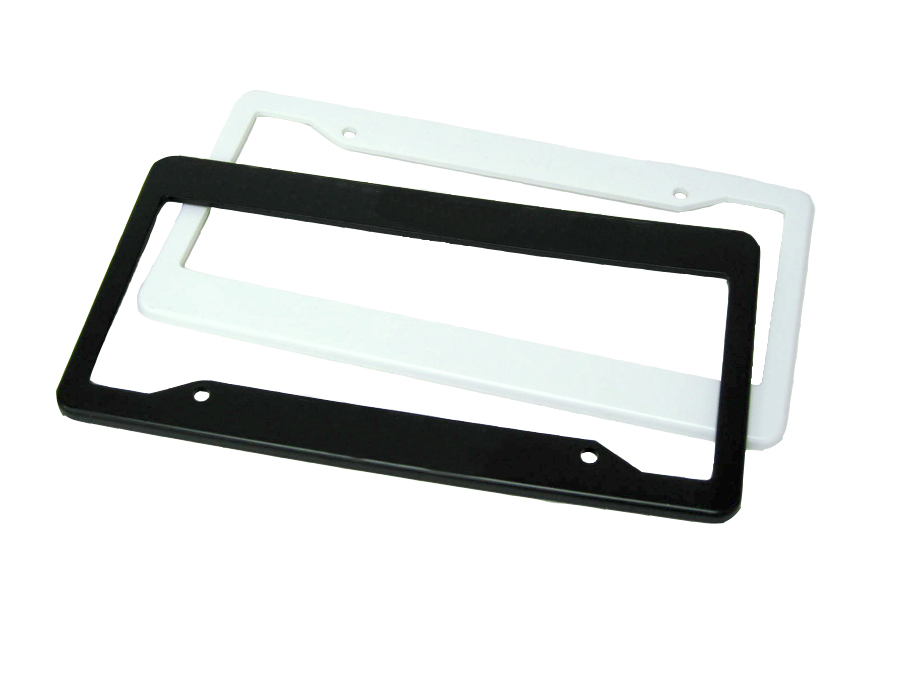 2 Holes Cutout Top - Straight Bottom Blank License Plate Frame ...