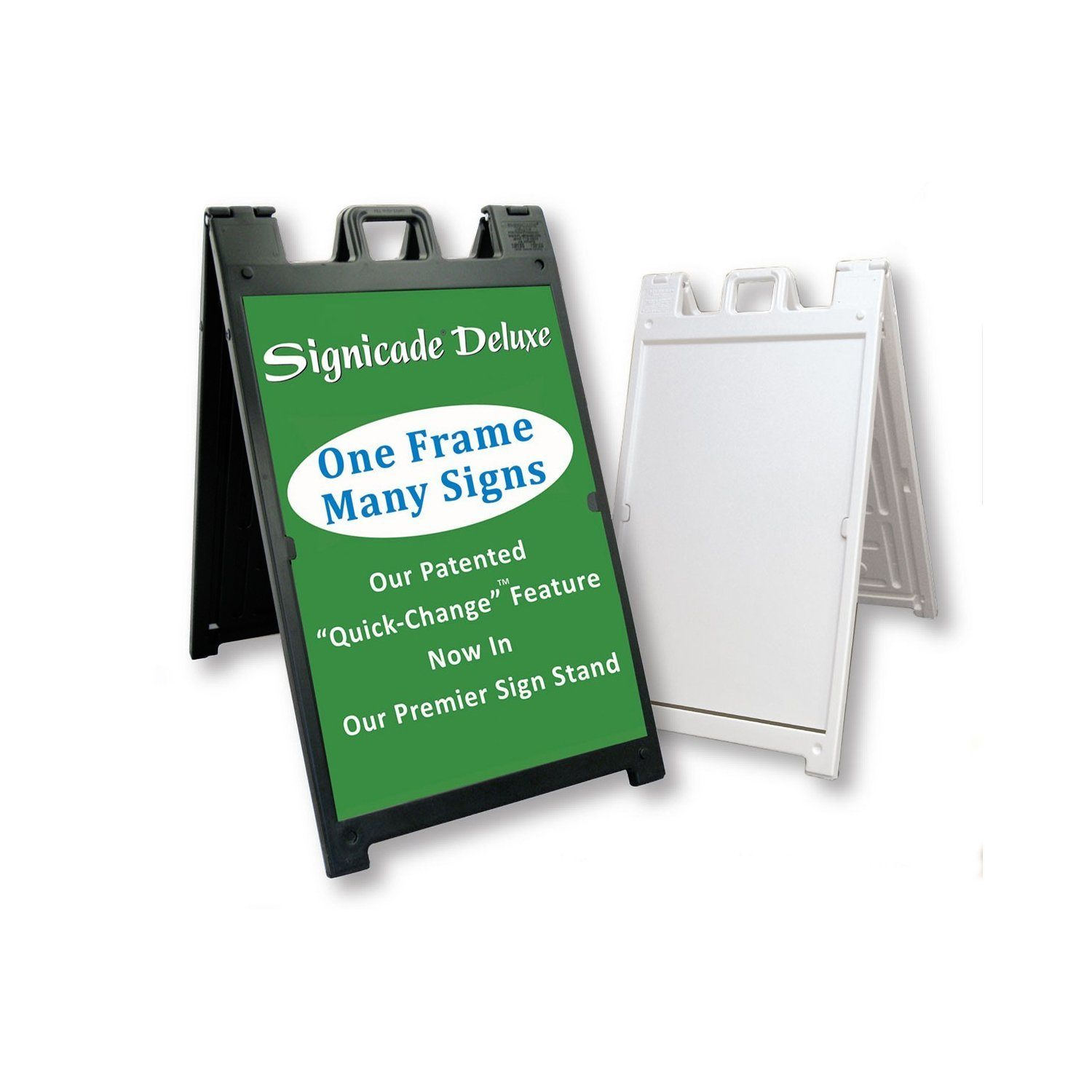Portable Sidewalk Signs with Poster Frames, Marker Boards